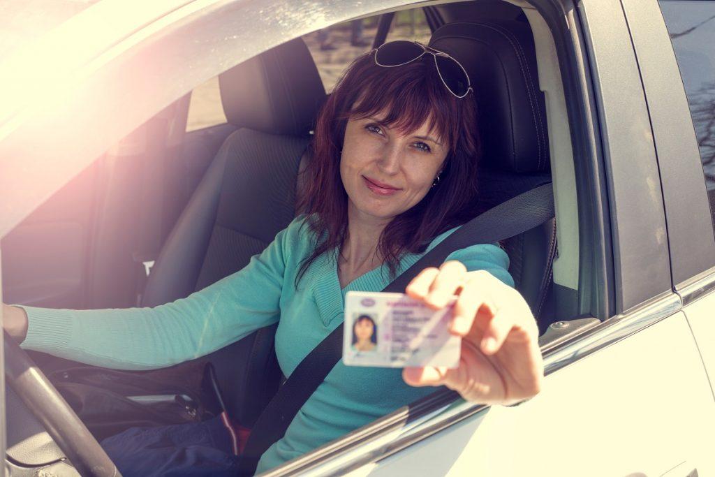 presenting a driver's license