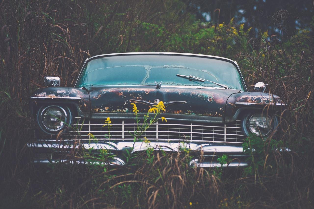 old unused car