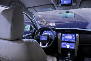 inside self driving car